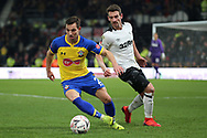 Southampton defender Cedric Soares on the ball during the The FA Cup 3rd round match between Derby County and Southampton at the Pride Park, Derby, England on 5 January 2019.