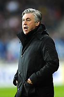 FOOTBALL - FRENCH CUP 2011/2012 - 1/16 FINAL - SABLE FC v PARIS SAINT GERMAIN - 20/01/2012 - PHOTO PASCAL ALLEE / DPPI - CARLO ANCELOTTI THE HEAD COACH (PSG)