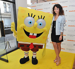 DJ YASMIN and SpongeBob SquarePants at a party to launch a range of SpongeBob SquarePants suits and accessories designed by Richard James in partnership with Nickelodeon held at Richard James, 29 Savile Row, London W1 on 11th May 2011.