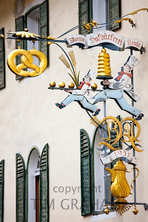 Cafe Hofbackerei Konditorei in Schlossplatz, Berchtesgaden in Baden-Wurttenberg, Bavaria, Germany