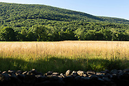 Cornwall, New York - A view of farm fields and Schunnemunk Mountain from Clove Brook Farm on Juy 1, 2019 .