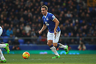 Phil Jagielka of Everton in action. Barclays Premier League match, Everton v West Bromwich Albion at Goodison Park in Liverpool on Saturday 13th February 2016.<br /> pic by Chris Stading, Andrew Orchard sports photography.