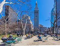 NEW YORK CITY- MARCH 26, 2018 : Madison square park one of the main Manhattan Landmarks