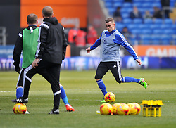 Joe Ralls of Cardiff City warms up before the Sky Bet Championship game between Cardiff City and Preston North End on 27 February 2016 in Cardiff, Wales - Mandatory by-line: Paul Knight/JMP - Mobile: 07966 386802 - 27/02/2016 -  FOOTBALL - Cardiff City Stadium - Cardiff, Wales -  Cardiff City v Preston North End - Sky Bet Championship