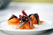SHOT 1/11/11 6:43:54 PM - Amaro e Mare antipasti at Frasca Food and Wine in Boulder, Co. It features smoked salmon, radicchio and manilla clam. Frasca is a highly-rated neighborhood restaurant inspired by the cuisine and culture of Friuli, Italy. Historically found throughout Friuli, Frascas were friendly and informal gathering places, a destination for farmers, friends, and families to share a meal and a bottle of wine. Identified by a tree branch hanging over a doorway portal, they were a symbol of local farm cuisine, wine, and warm hospitality. (Photo by Marc Piscotty / © 2011)