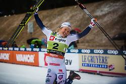 SUNDLING Jona (SWE) celebrating the Ladies sprint free race at FIS Cross Country World Cup Planica 2019, on December 21, 2019 at Planica, Slovenia. Photo By Peter Podobnik / Sportida