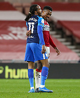 Former teammates, Preston North End's Daniel Johnson and Middlesbrough's Darnell Fisher share a word after the match<br /> <br /> Photographer Alex Dodd/CameraSport<br /> <br /> The EFL Sky Bet Championship - Middlesbrough v Preston North End - Tuesday 16th March 2021 - Riverside Stadium - Middlesbrough<br /> <br /> World Copyright © 2021 CameraSport. All rights reserved. 43 Linden Ave. Countesthorpe. Leicester. England. LE8 5PG - Tel: +44 (0) 116 277 4147 - admin@camerasport.com - www.camerasport.com