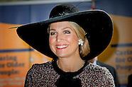 Koningin Maxima is aanwezig bij de opening van het Europees verpleegkundig congres over de zorg voor