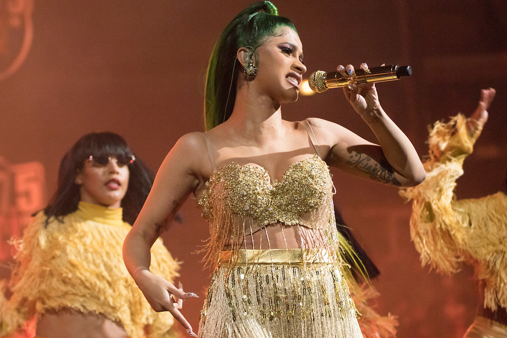 Cardi B performs at the WGCI Big Jam on November 21, 2018 at the United Center in Chicago, IL.