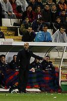 10.02.2013 SPAIN -  La Liga 12/13 Matchday 23th  match played between Rayo Vallecano vs Atletico de Madrid (2-1) at Campo de Vallecas stadium. The picture show Paco Jemez coach of Rayo Vallecano