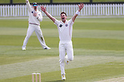 Matt Henry of Canterbury celebrates the LBW wicket of Tom Bruce of CD. Canterbury vs. Central Districts Day 1, 1st round of the 2021-2022 Plunket Shield cricket competition at Hagley Oval, Christchurch, on Saturday 23rd October 2021.© Copyright Photo: Martin Hunter/ www.photosport.nz