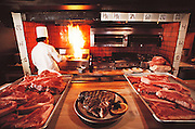 Harris Ranch Restaurant in Coalinga, California. Freshly grilled beefsteak. USA [[From the company: THE HARRIS FARMS GROUP OF COMPANIES. Harris Farms, Inc. is one of the nation's largest, vertically integrated family owned agribusinesses]].