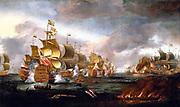 The Battle of Lowestoft, 3 June 1665 - Engagement between the English and Dutch Fleets by Adriaen Van Diest
