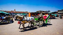 General scene of Jemaa El Fna, a Unesco World Heritage Site, in Marrakech, Morocco, North Africa<br /> <br /> (c) Andrew Wilson | Edinburgh Elite media