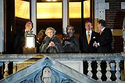Viering 300 jaar Vrede van Utrecht  in de Domkerk.<br /> <br /> Celebrating 300 years in the Peace of Utrecht in the Dom Church.<br /> <br /> Op de foto:  Burgemeester Aleid Wolfsen, koningin Beatrix, prinses Maxima en prins Willem-Alexander <br /> <br /> Mayor Aleid Wolfsen, Queen Beatrix, Princess Maxima and Prince Willem-Alexander