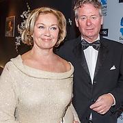NLD/Hilversum/20150217 - Inloop Buma Awards 2015, Harry van Hoof en partner Els
