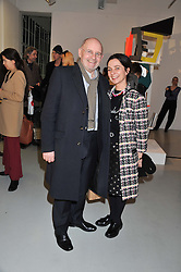 Art collector BRIAN BOLEN and GILLIAN McVEY at a private view of Tobias Rehberger's latest work entitled 'Sex and Friends' held at the Pilar Corrias Gallery, 54 Eastcastle Street, London W1 on 12th January 2012.