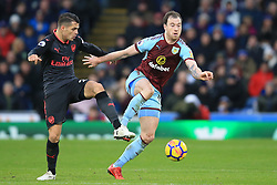 26 November 2017 -  Premier League - Burnley v Arsenal - Ashley Barnes of Burnley in action with Granit Xhaka of Arsenal - Photo: Marc Atkins/Offside