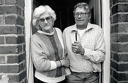 Elderly couple, Nottingham UK 1987