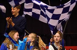 17-04-2016 NED: Play off finale Abiant Lycurgus - Seesing Personeel Orion, Groningen<br /> Abiant Lycurgus is door het oog van de naald gekropen tijdens het eerste finaleduel om het landskampioenschap. De Groningers keken in een volgepakt MartiniPlaza tegen een 0-2 achterstand aan tegen Seesing Personeel Orion, maar kwam langszij en pakte het de wedstrijd met 3-2.