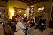 Election eve party, Menzel/D'Aluisio house in Napa Valley, CA. Obama beats Romney.