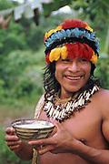 Zaparo Indian<br />Amazon Rain Forest. ECUADOR.  South America