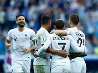 France celebration after the goal scored by Antoine Griezmann <br /> Nizhny Novgorod 06-07-2018 Football FIFA World Cup Russia  2018 Uruguay - France / Uruguay - Francia <br /> Foto Matteo Ciambelli/Insidefoto