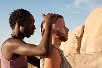Reiki in the desert therapist portraits and with client.  <br /> <br /> Try this at home.