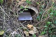 Nederland, Ubbergen, 23-9-2011Een wildtunnel onder de N325. Er is een stuk wit karton ingelegd om te zien of er gebruik van wordt gemaakt door met name bevers.Foto: Flip Franssen/Hollandse Hoogte