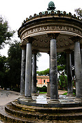 Temple of Diana, Villa Borghese. Images of Rome, Italy during the Christmas Holidays.