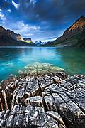 Sunrise at Wild Goose Island at St. Mary Lake. Glacier National Park, Montana.