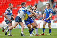 Doncaster RLFC interchange Zac Braham (16)   during the Challenge Cup 2018 match between Doncaster and Featherstone Rovers at the Keepmoat Stadium, Doncaster, England on 22 April 2018. Picture by Simon Davies.