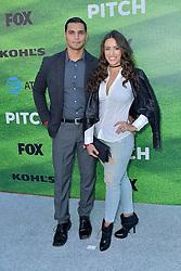 September 13, 2016 - Los Angeles, Kalifornien, USA - Christian Ochoa und Rebecca Valera bei der Premiere der FOX TV-Serie 'Pitch' auf dem West LA Little League Field. Los Angeles, 13.09.2016 (Credit Image: © Future-Image via ZUMA Press)
