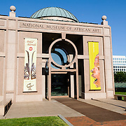 Entrance to the Smithsonian Institution's National Museum of African Art in Washington DC.