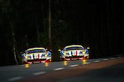 June 8-14, 2015: 24 hours of Le Mans - #51 AF CORSE, FERRARI 458 ITALIA, Giammaria BRUNI, Toni VILANDER, Giancarlo FISICHELLA, #71 AF CORSE Ferrari 458, Davide RIGON, James CALADO, Olivier BERETTA