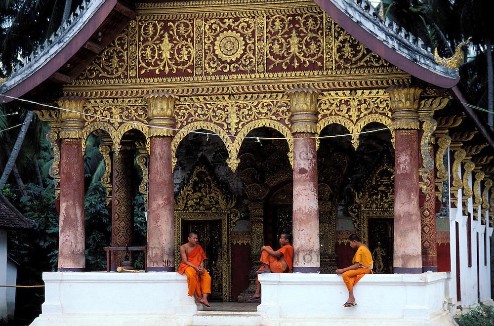 Laos, Province de Luang Prabang, ville de Luang Prabang, Patrimoine mondial de l'UNESCO depuis 1995, temple Vat Pha Phutthabaht// Laos, Province of Luang Prabang, city of Luang Prabang, World heritage of UNESCO since 1995, temple Wat Pha Phutthabaht