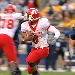 Oct 25, 2008; Pittsburgh, PA, USA; Rutgers running back Kordell Young rushes around the corner during Rutgers' 54-34 victory over Pittsburgh at Heinz Field.