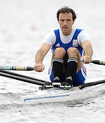 Poznan, POLAND,  FRA M1X, Jean-David BERNARD,   at the  start of his  semi final, at the 2008 FISA World Cup. Rowing Regatta. Malta Rowing Course on Saturday, 21/06/2008. [Mandatory Credit:  Peter SPURRIER / Intersport Images] Rowing Course:Malta Rowing Course, Poznan, POLAND