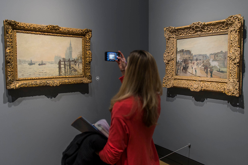 The Thames Below Westminster, 1871, and the Pont Neuf, 1871 - The Credit Suisse Exhibition: Monet & Architecture a new exhibition in the Sainsbury Wing at The National Gallery.
