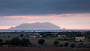 Marettimo is the western most of the Aegadian islands (Isole Egadi), viewed from Favignana island
