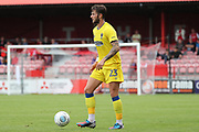 AFC Wimbledon Callum Kennedy (23) with the ball at his feet during the Pre-Season Friendly match between Ebbsfleet and AFC Wimbledon at Stonebridge Road, Ebsfleet, United Kingdom on 29 July 2017. Photo by Matthew Redman.