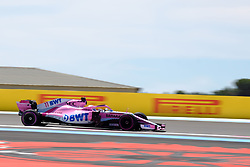 June 22, 2018 - Le Castellet, Var, France - Force India 11 Driver SERGIO PEREZ (MEX) in action during the Formula one French Grand Prix at the Paul Ricard circuit at Le Castellet - France (Credit Image: © Pierre Stevenin via ZUMA Wire)