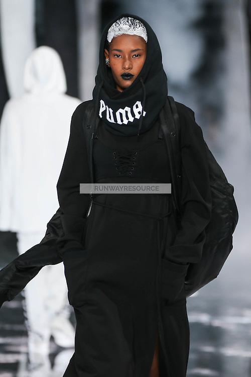 Ysaunny Brito walks the runway wearing PUMA x FENTY by Rihanna Fall 2016 during New York Fashion Week on February 12, 2016