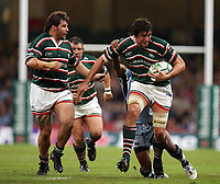 Photo: Rich Eaton.<br /> <br /> Cardiff Blues v Leicester Tigers. Heineken Cup. 29/10/2006. Andy Hamilton of Leicester Tigers is tackled