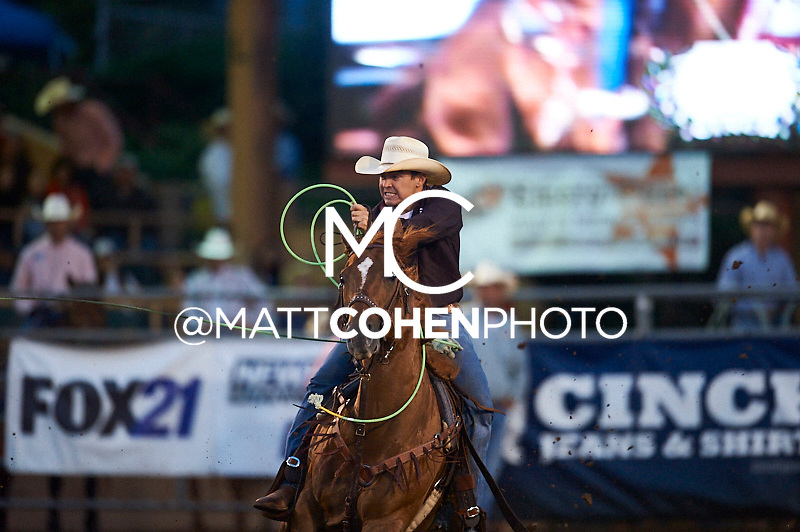 Team roper Chad Wahlert of Kersey, CO competes at the Pikes Peak or Bust Rodeo in Colorado Springs, CO.<br /> <br /> <br /> UNEDITED LOW-RES PREVIEW<br /> <br /> <br /> File shown may be an unedited low resolution version used as a proof only. All prints are 100% guaranteed for quality. Sizes 8x10+ come with a version for personal social media. I am currently not selling downloads for commercial/brand use.