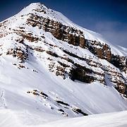 Silas Chickering-Ayers hikes towards Cody Peak in the Teton Backcountry.