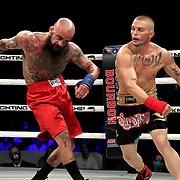DAYTONA BEACH, FL - SEPTEMBER 11: Jacob Brunelle (L) fights Rusty Crowder during the Bare Knuckle Fighting Championships at the Ocean Center on September 11, 2020 in Daytona Beach, Florida. (Photo by Alex Menendez/Getty Images) *** Local Caption *** Jacob Brunelle; Rusty Crowder