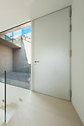 Architecture, new trend design, entrance of a modern house