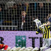 Fenerbahce's Mamadou NIANG goal during their Turkish superleague soccer match Fenerbahce between Kayserispor at the Sukru Saracaoglu stadium in Istanbul Turkey on Monday 14 February 2011. Photo by TURKPIX