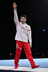 March 2, 2019 - Greensboro, North Carolina, US - YUE MA from China salutes the crowd at the Greensboro Coliseum in Greensboro, North Carolina. (Credit Image: © Amy Sanderson/ZUMA Wire)